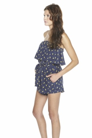 Alcee Printed Strapless Romper - Side cropped