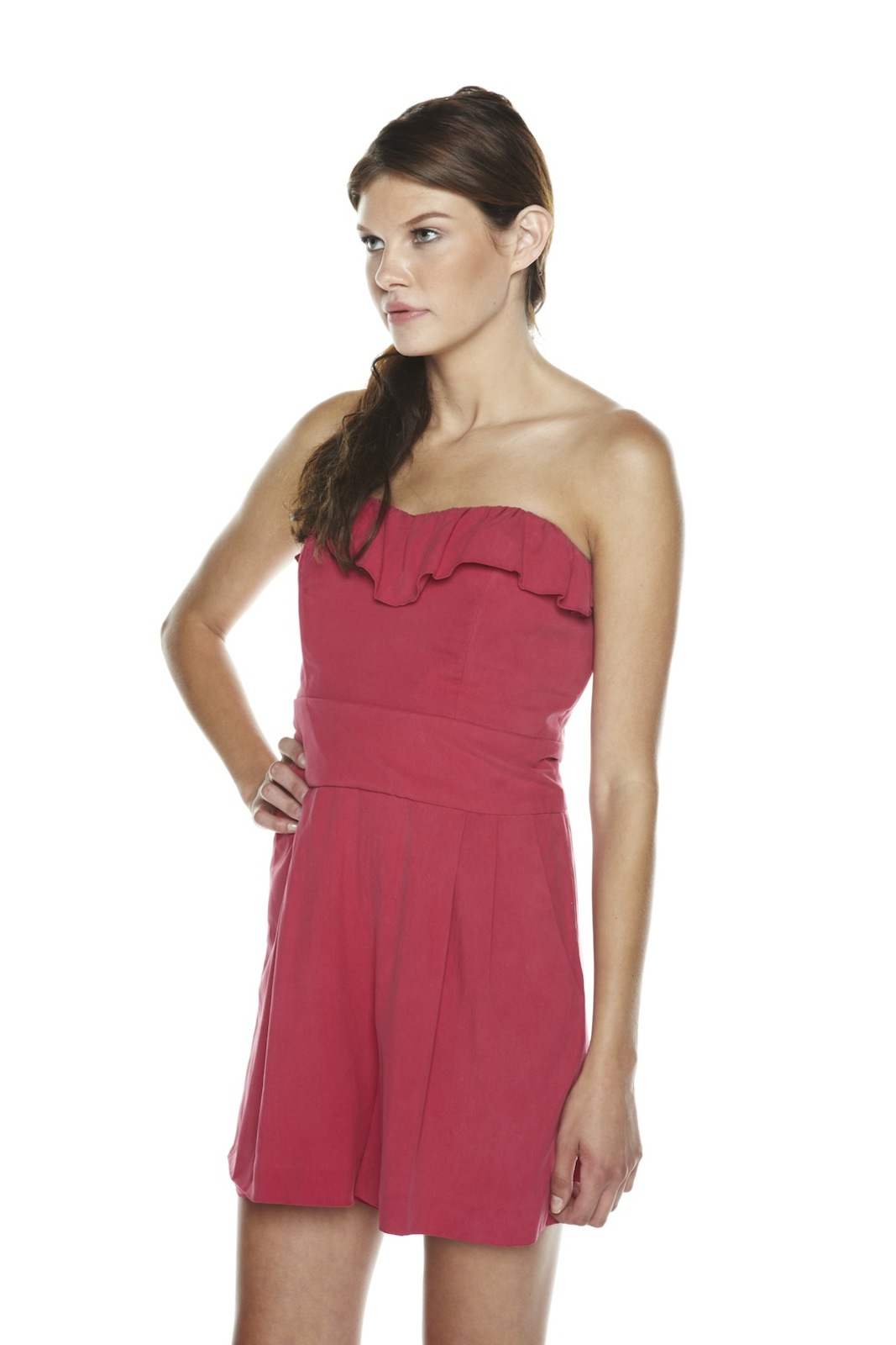 Mark & James by Badgley Mischka Ruffled Romper - Side Cropped Image