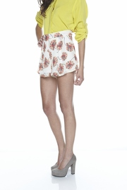 Shoptiques Product: Floral High-Waisted Shorts - Side cropped