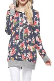 12pm by Mon Ami Navy Floral Hoodie - Product Mini Image