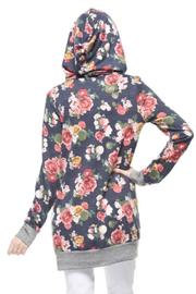 12pm by Mon Ami Navy Floral Hoodie - Front full body