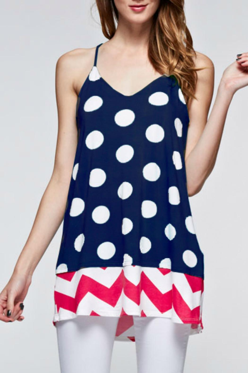 12pm by mon ami polka dot tank from maryland by swank shoptiques