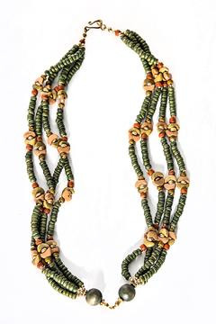 Green House Imports Olive Green Necklace - Alternate List Image