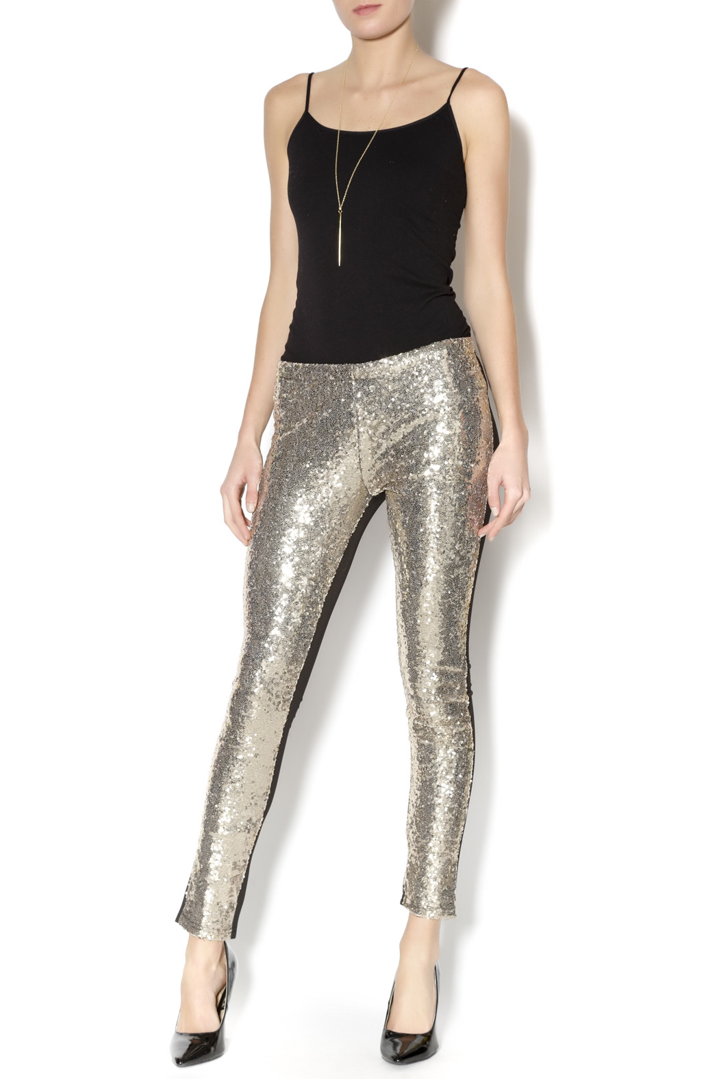 T L B D Gold Sequin Leggings From Montclair By That