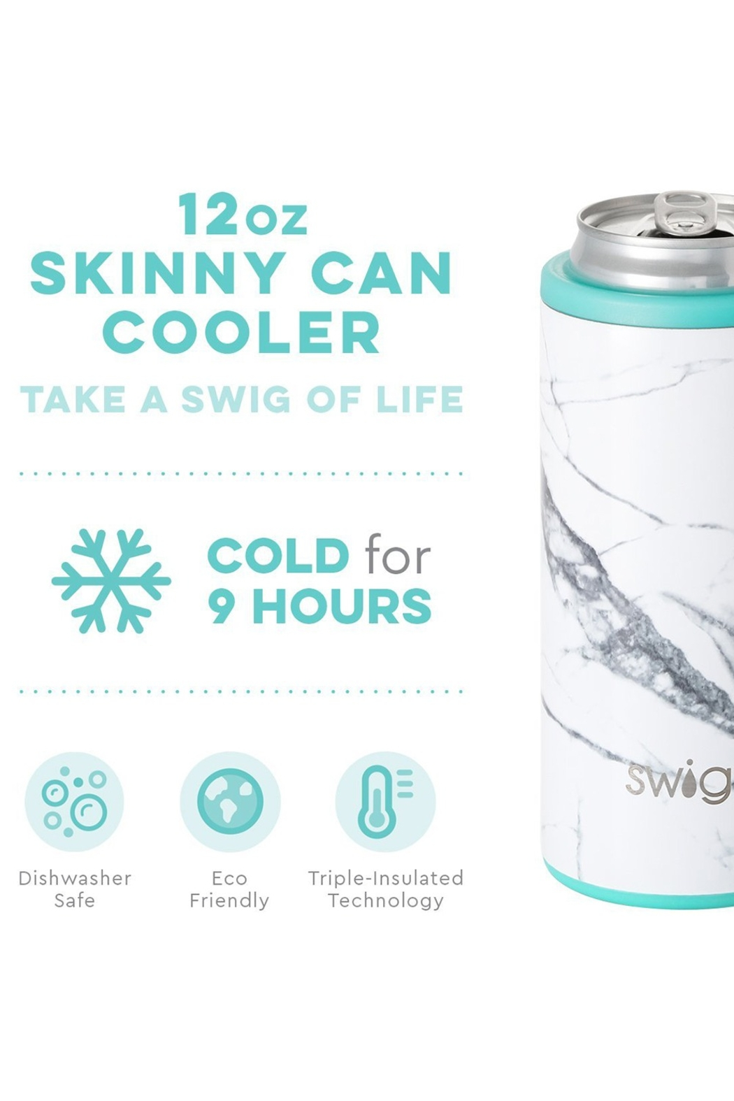 Swig 12oz Skinny Can - Front Full Image