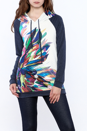 12pm by Mon Ami Color Splashed Hooded Sweater - Product Mini Image