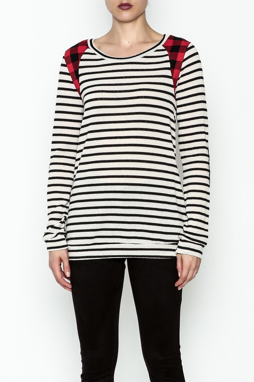 12pm by Mon Ami Kerri Stripe Top - Front Full Image