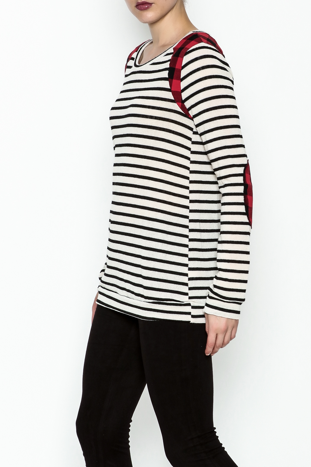 12pm by Mon Ami Kerri Stripe Top - Front Cropped Image