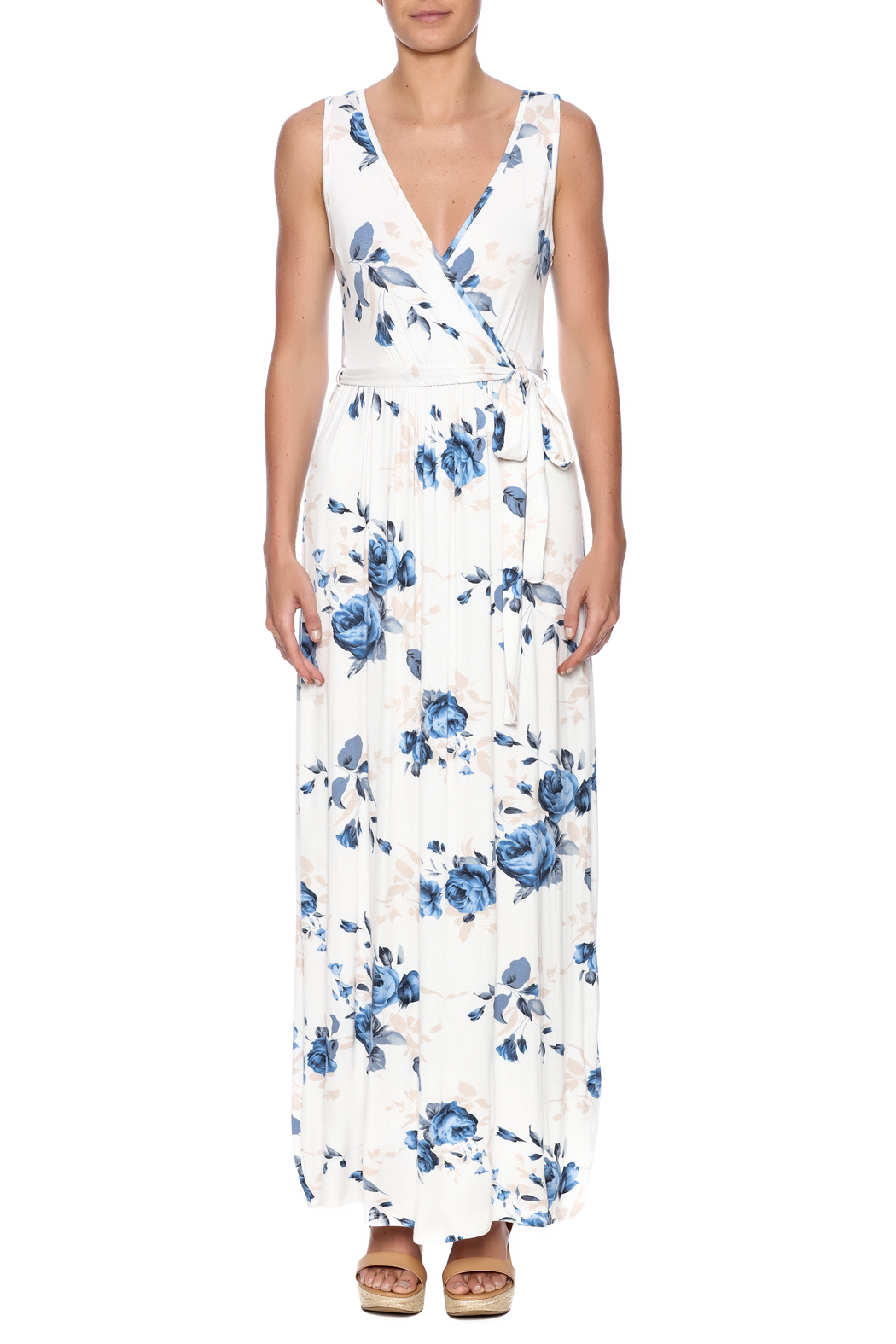 12pm by Mon Ami Maui Maxi Dress - Front Cropped Image