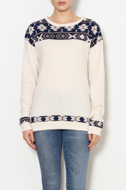 12pm by Mon Ami Nordic Print Sweater - Product Mini Image