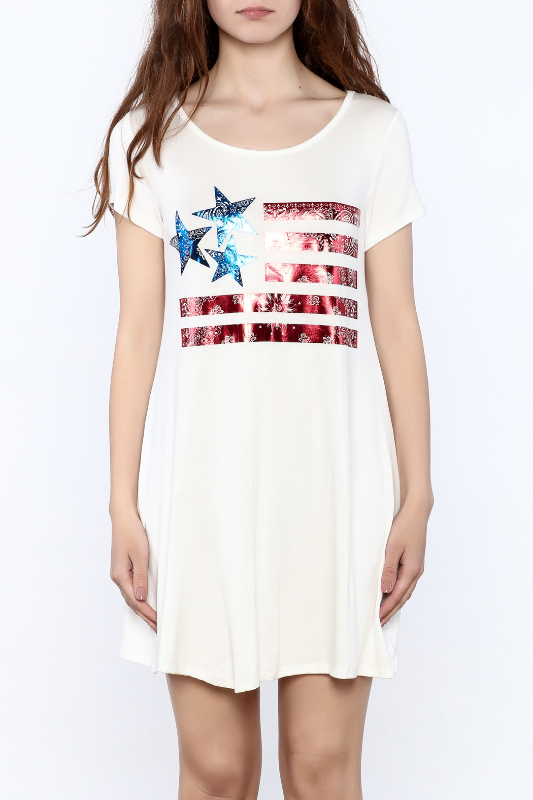 12pm by Mon Ami American Pride Dress - Side Cropped Image