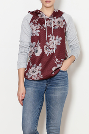 12pm by Mon Ami Quilted Floral Hoodie - Product Mini Image