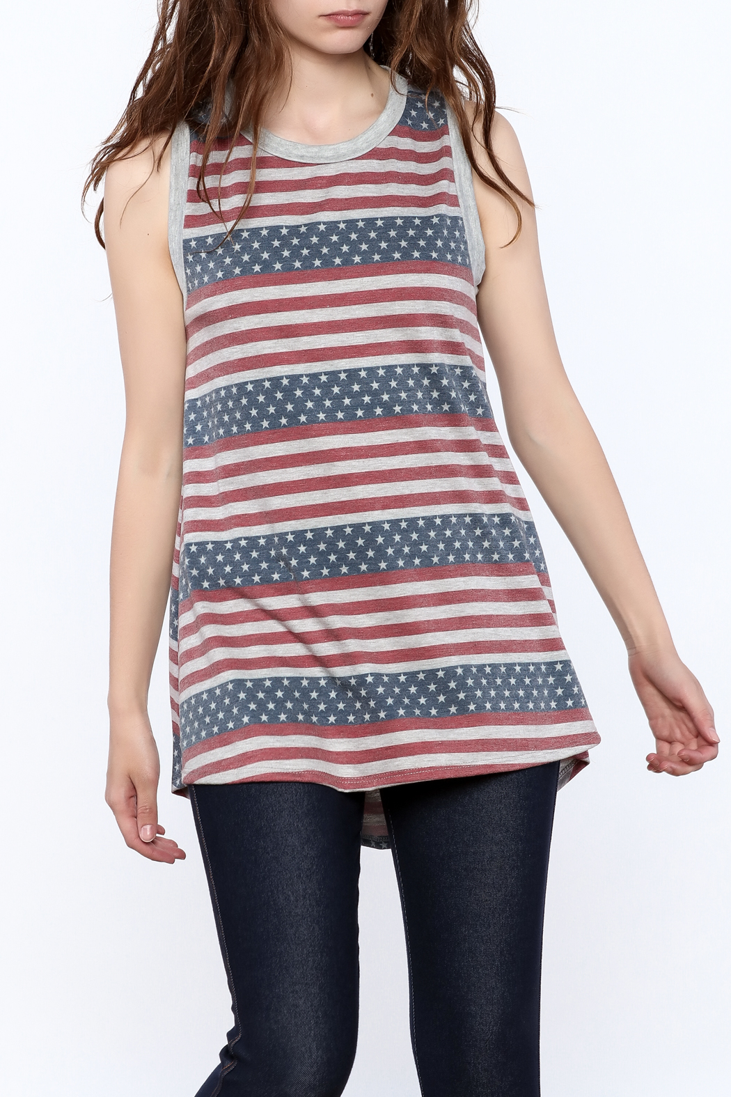 12pm by Mon Ami Stars And Stripes Tank - Main Image
