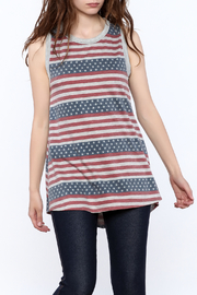 12pm by Mon Ami Stars And Stripes Tank - Front cropped