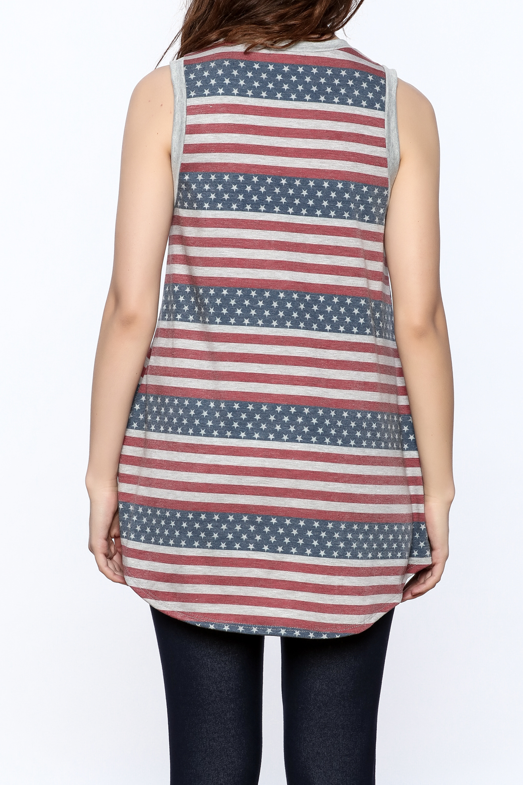 12pm by Mon Ami Stars And Stripes Tank - Back Cropped Image