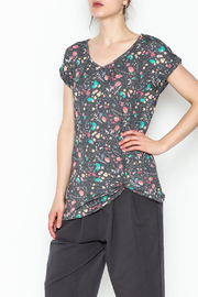 12pm by Mon Ami Twisted Rolled Sleeve Top - Front cropped