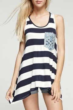 12pm by Mon Ami American Stripe Tank - Product List Image