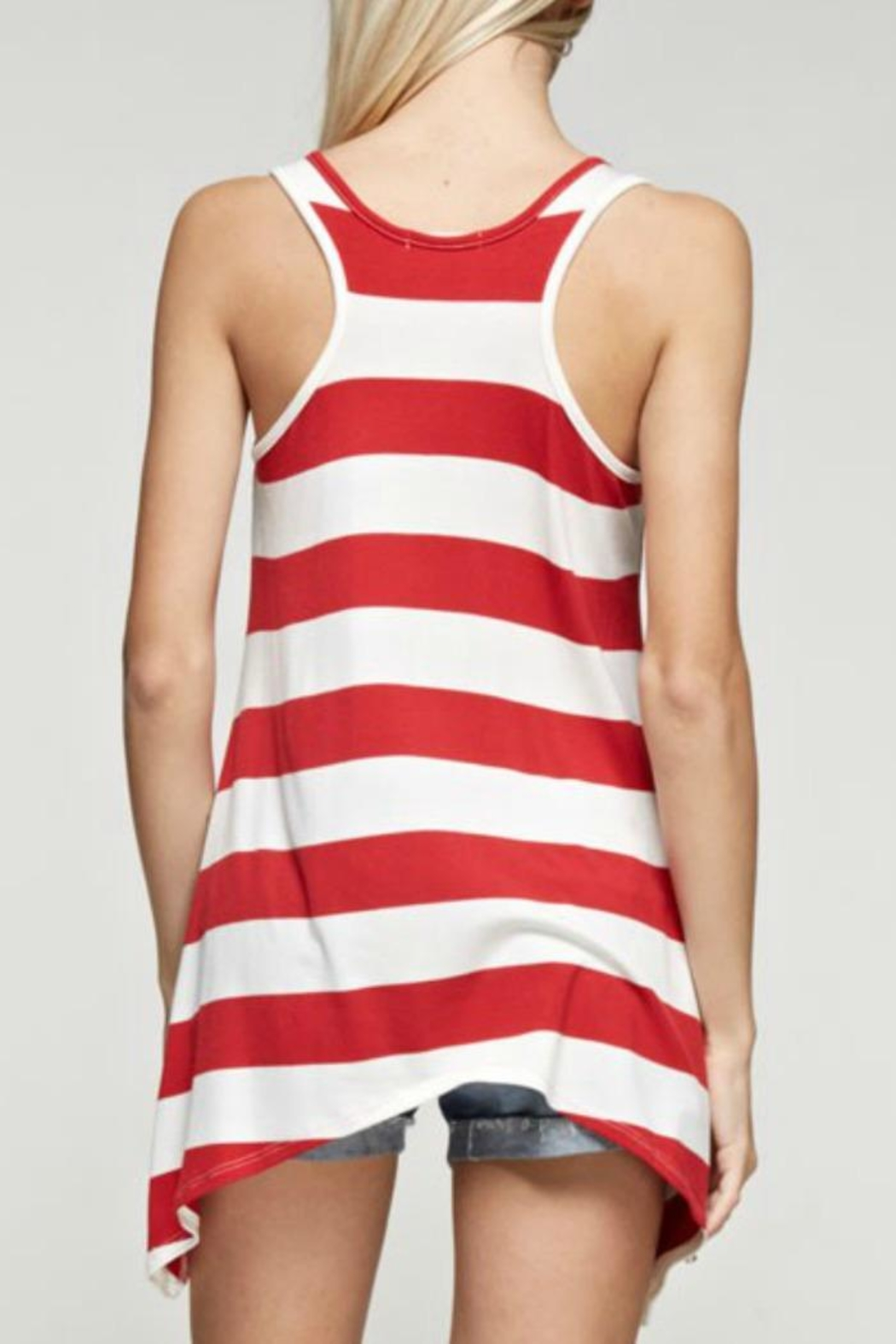 12pm by Mon Ami American Stripe Tank - Front Full Image
