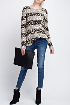 Shoptiques Product: Striped Animal Print Top