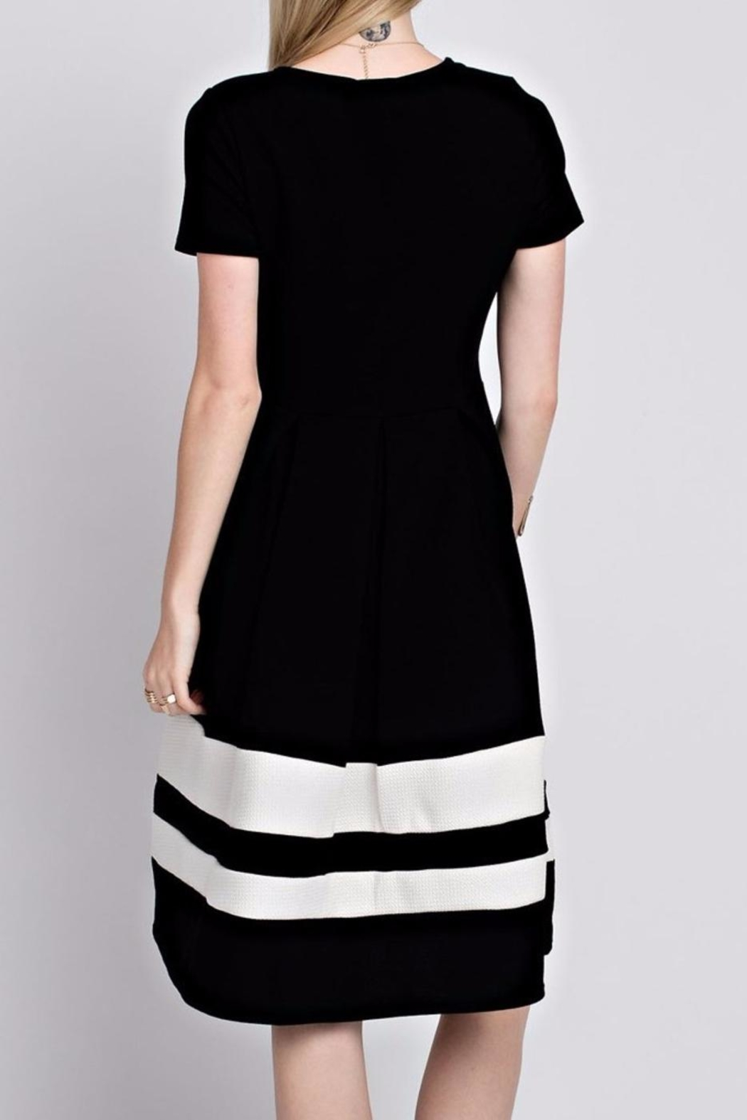 12pm by Mon Ami Black Eloise Dress - Front Full Image