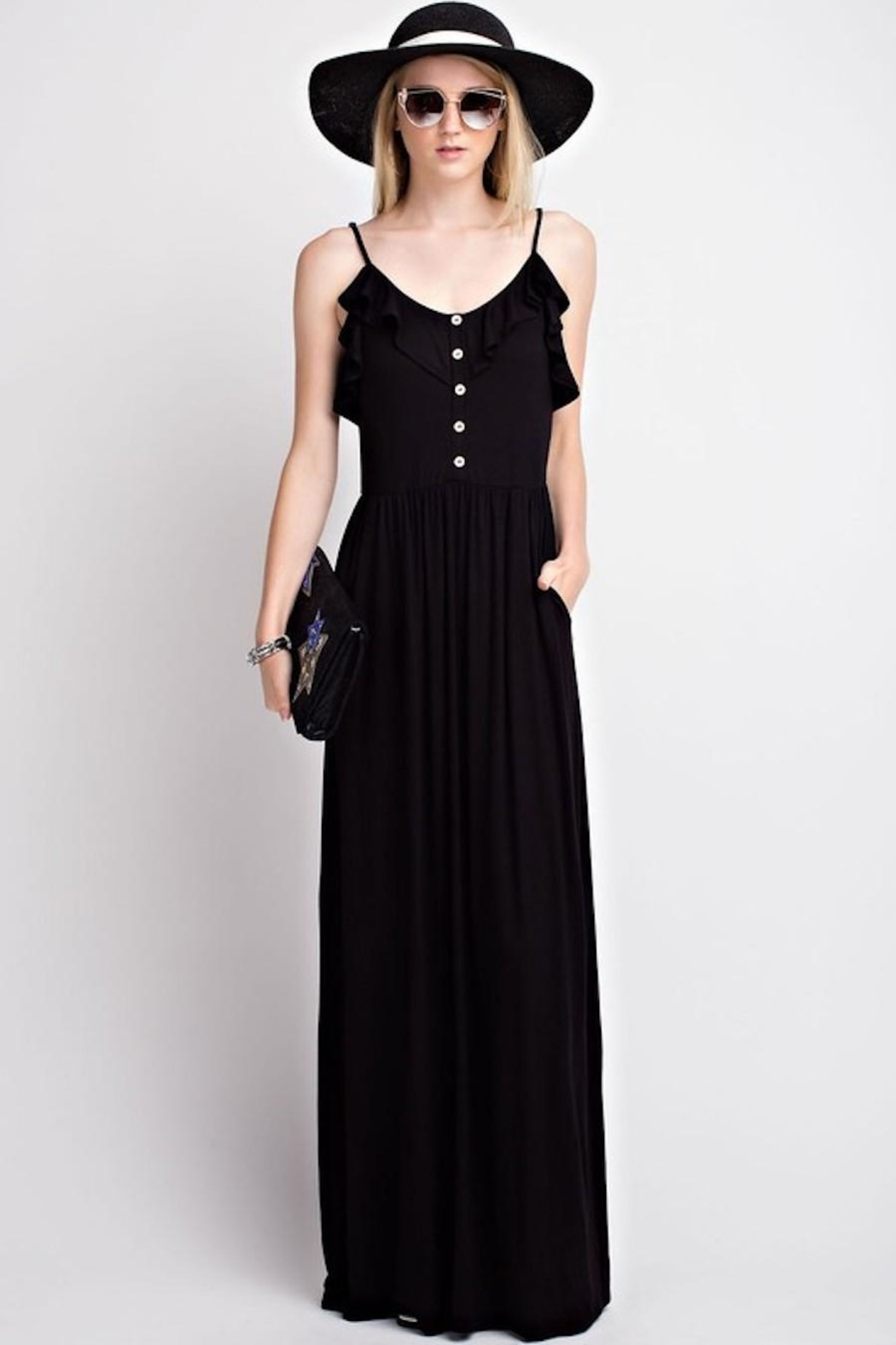 12pm by Mon Ami Black Pocket Maxi - Front Cropped Image