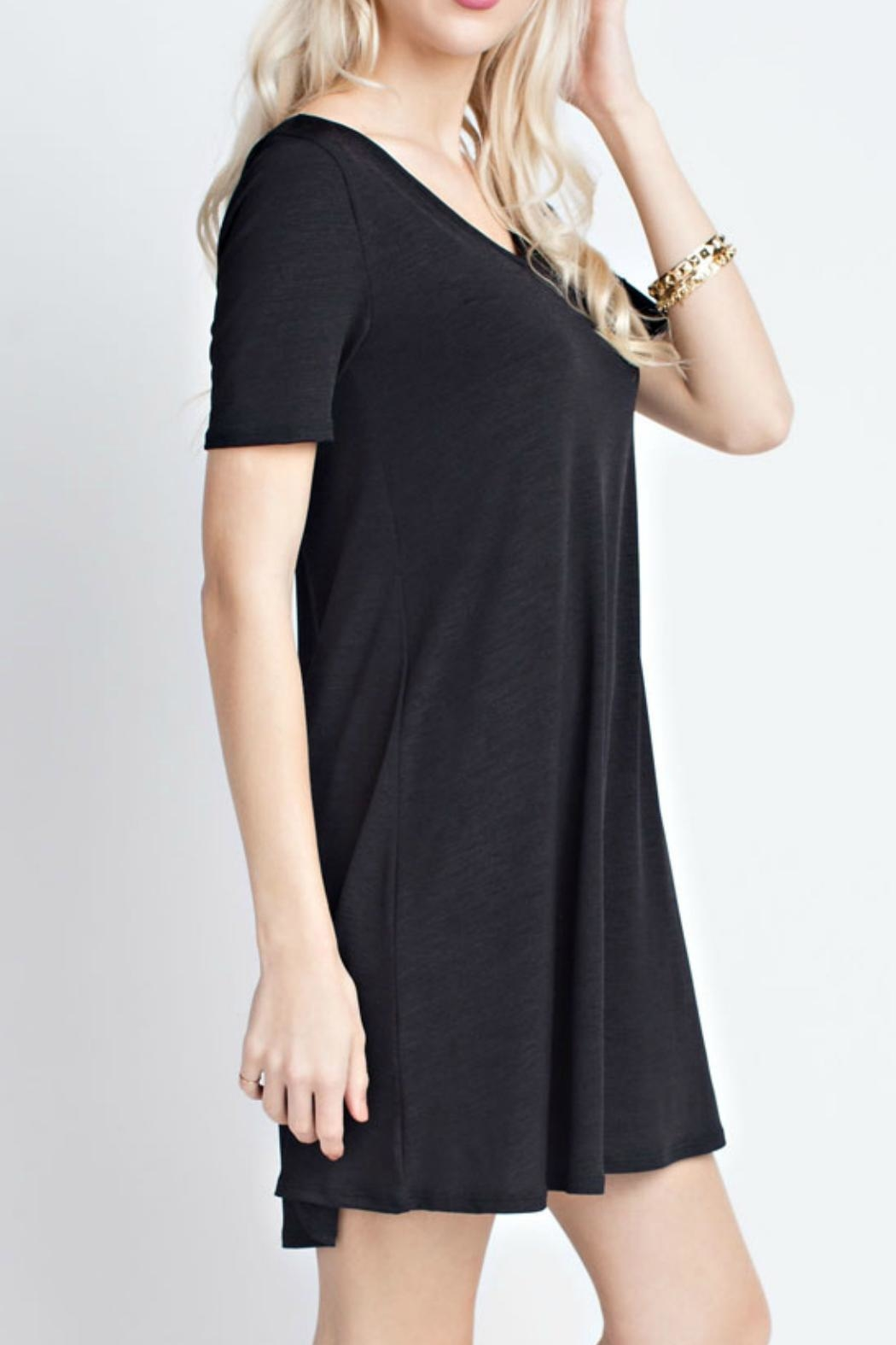 12pm by Mon Ami Black Trendy Dress - Front Full Image
