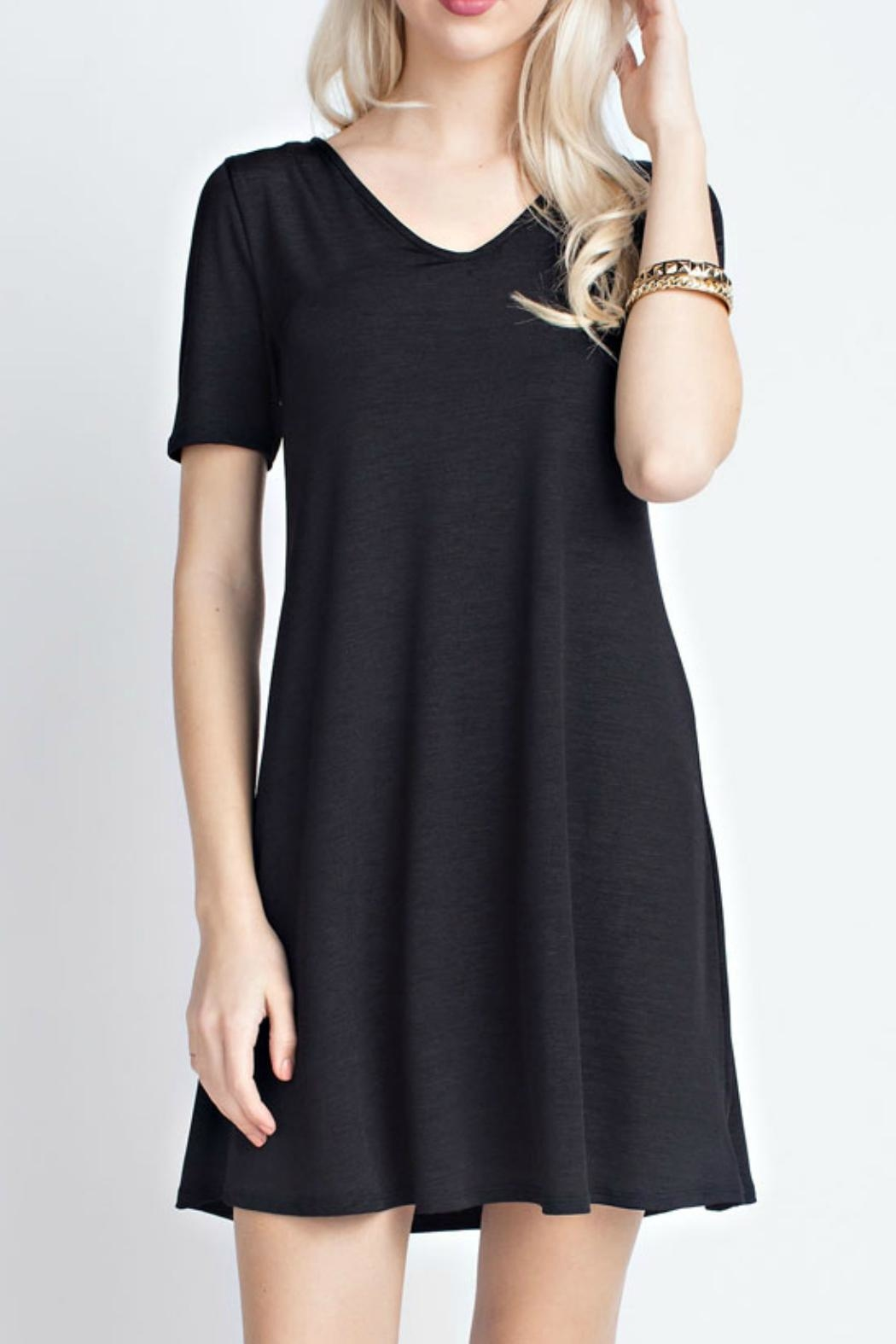 12pm by Mon Ami Black Trendy Dress - Front Cropped Image