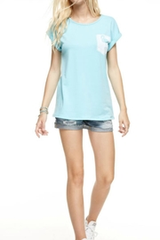 12pm by Mon Ami Blue Flamingo Top - Side cropped