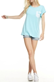 12pm by Mon Ami Blue Flamingo Top - Product Mini Image