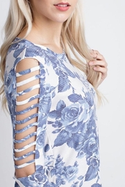 12pm by Mon Ami Blue Floral Cut-Out - Front full body
