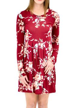 Shoptiques Product: Burgundy Floral Dress