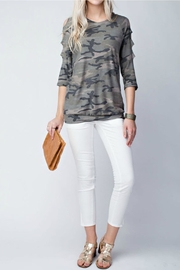 12pm by Mon Ami Camo Top - Front cropped
