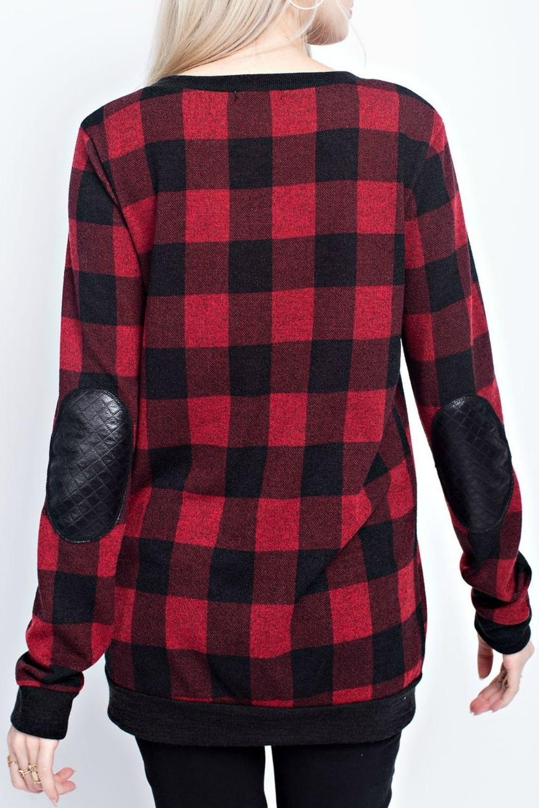 12pm by Mon Ami Chelsey Checked Sweater - Front Full Image