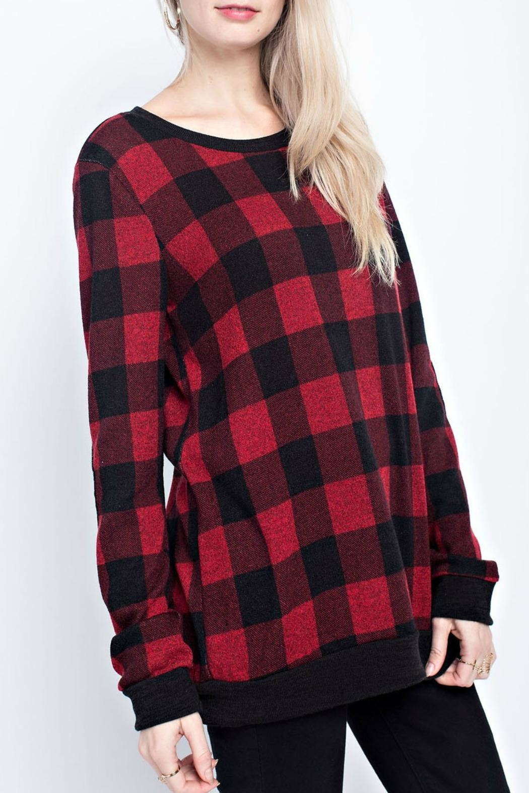 12pm by Mon Ami Chelsey Checked Sweater - Main Image