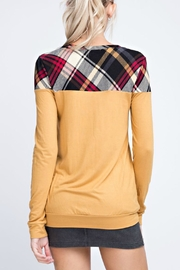 12pm by Mon Ami Chelsey Plaid Top - Front full body
