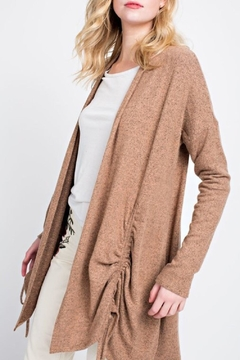 12pm by Mon Ami Cinched Camel Cardigan - Product List Image