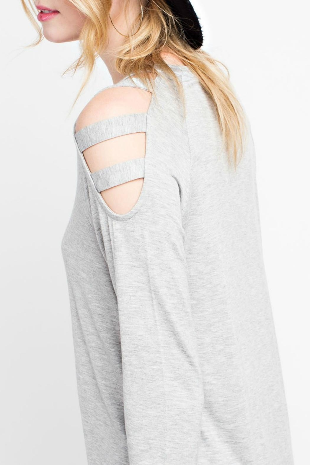 12pm by Mon Ami Cold Shoulder Top - Front Full Image