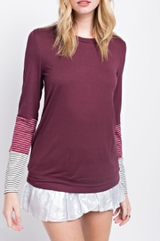 12pm by Mon Ami Contrast Sleeve Top - Product Mini Image