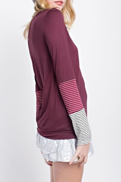 12pm by Mon Ami Contrast Sleeve Top - Alternate List Image