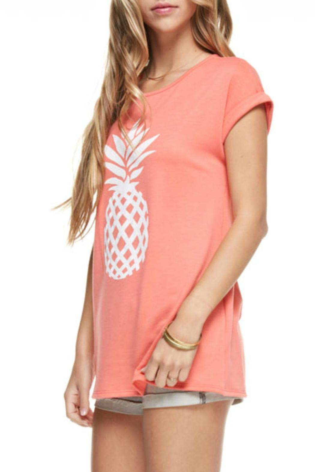 12pm by Mon Ami Coral Pineapple Top - Front Full Image