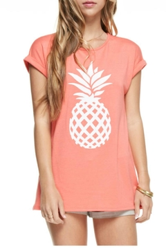 Shoptiques Product: Coral Pineapple Top