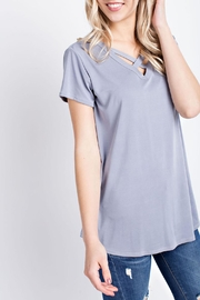 12pm by Mon Ami Criss-Cross V Neck - Product Mini Image