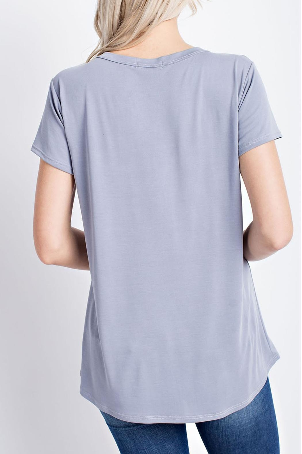 12pm by Mon Ami Criss-Cross V Neck - Side Cropped Image