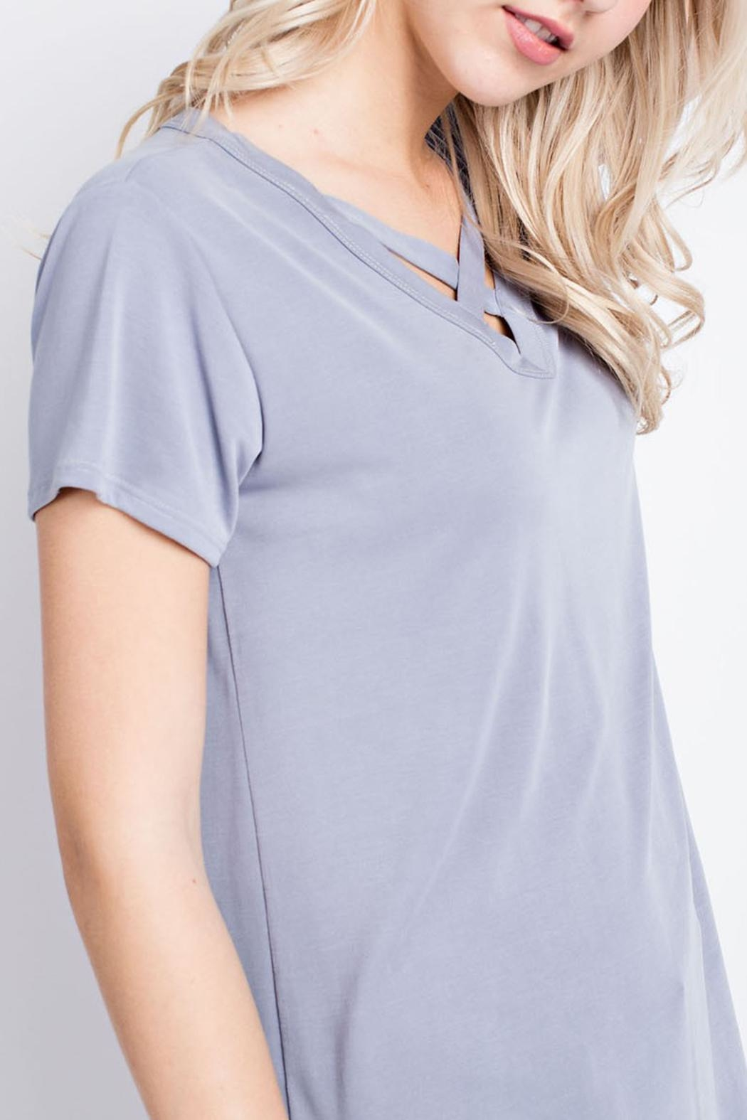 12pm by Mon Ami Criss-Cross V Neck - Front Full Image