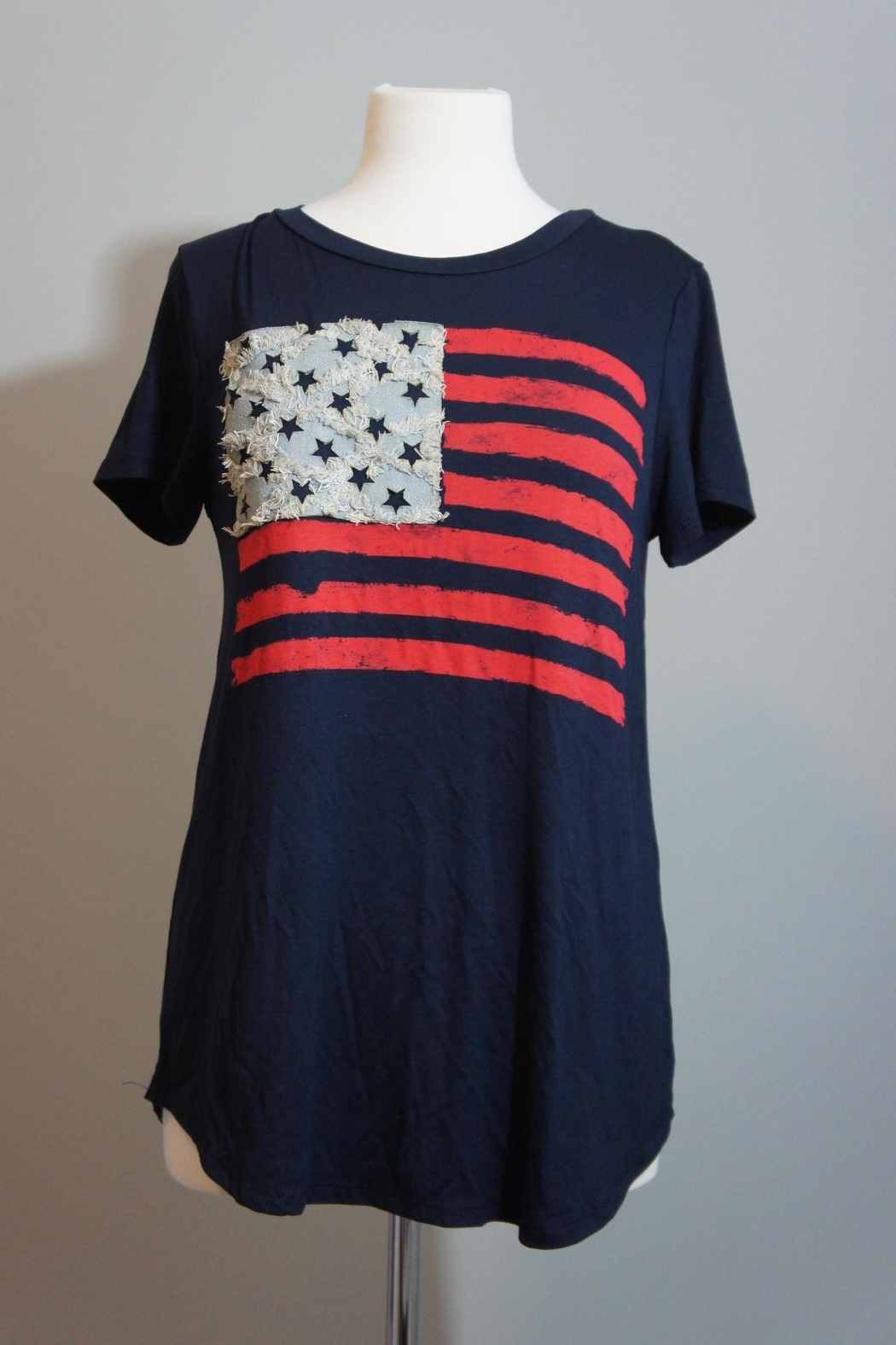 12pm by Mon Ami Denim-Accent Usa Tee - Main Image