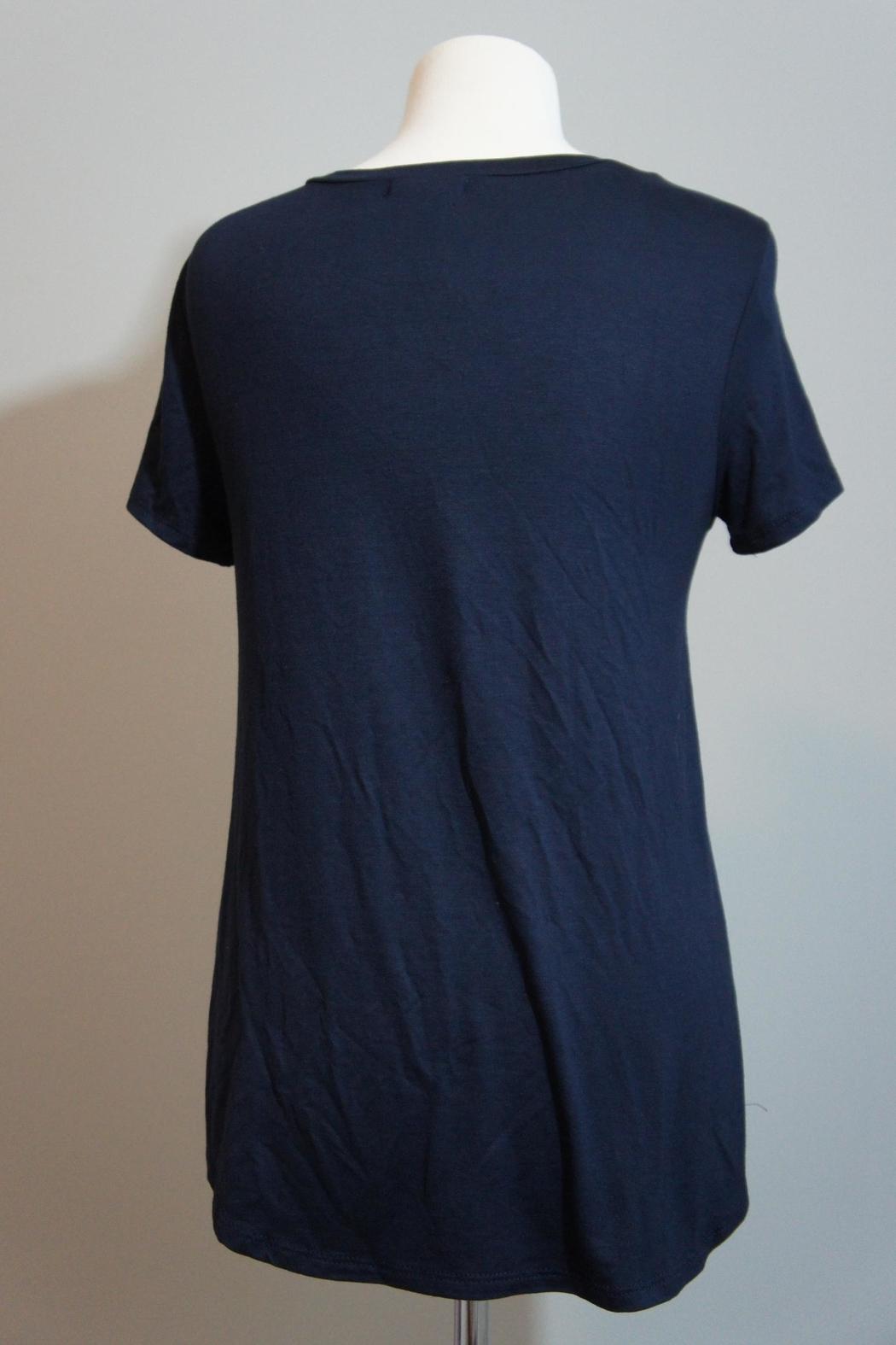 12pm by Mon Ami Denim-Accent Usa Tee - Side Cropped Image