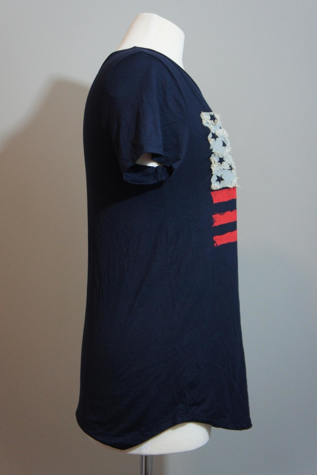 12pm by Mon Ami Denim-Accent Usa Tee - Front Full Image