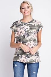 12pm by Mon Ami Floral/camo Top - Product Mini Image