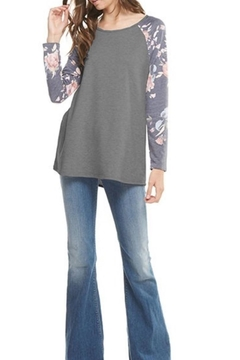 12pm by Mon Ami Floral Sleeve Top - Product List Image