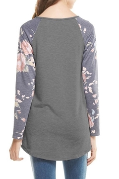 12pm by Mon Ami Floral Sleeve Top - Alternate List Image